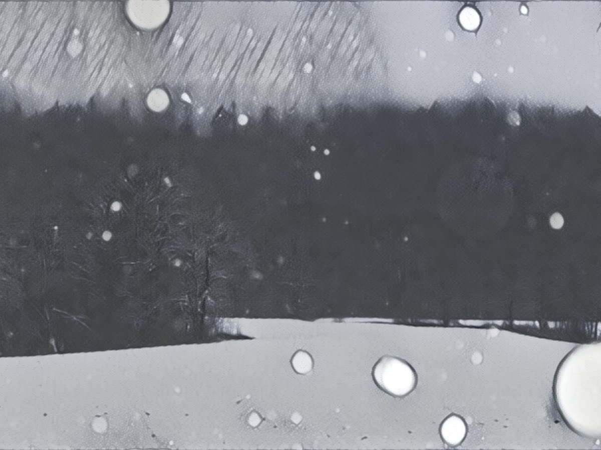 Vinterlandskap med snø - Mindfulness - PusteUt